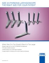 New! Size 3.5 Parsons Laryngoscope the Right Size for your Patient