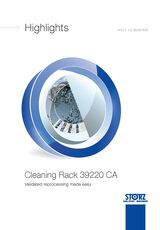 Highlights Cleaning Rack 39220 CA – Validated reprocessing made easy