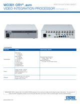 WO301 OR1® .avm Video Integration Processor