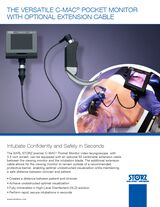 The Versatile C-MAC® Pocket Monitor with Optional Extension Cable