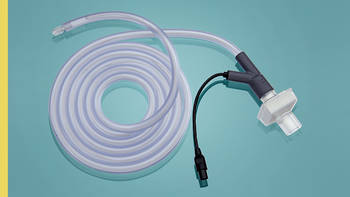 Gas filters and insufflation tubing sets with gas filter for insufflation devices with a gas flow of up to 50 l/min