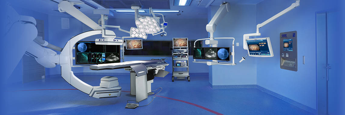 Integration into hybrid operating rooms