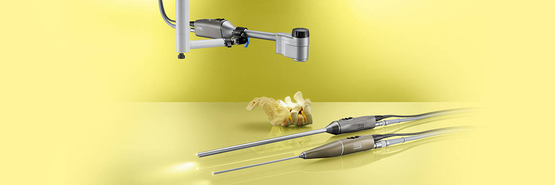 10 mm 3D video laparoscope, 4 mm 3D video endoscope ORL and 3D exoscope through a camera platform