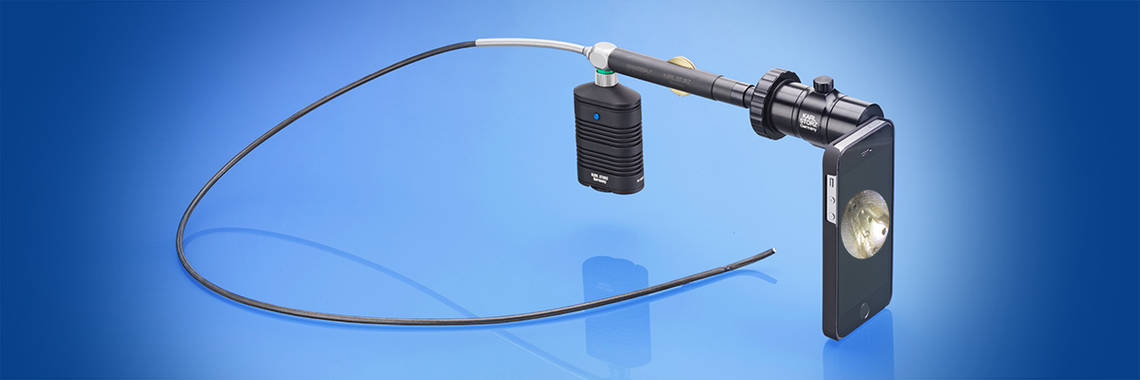 The new smartphone adapter allows you to easily document endoscopic images on a smartphone.