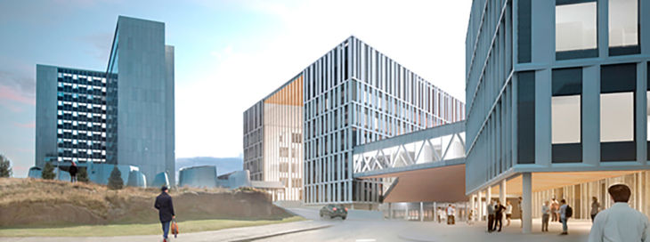 HUS's largest construction project: the new construction building planned for the Bridge Hospital © HUS